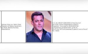 Salman khan name to be listed as criminal on this site