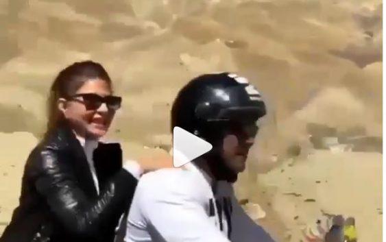 Salman and jacqueline Bike ride breaks the internet
