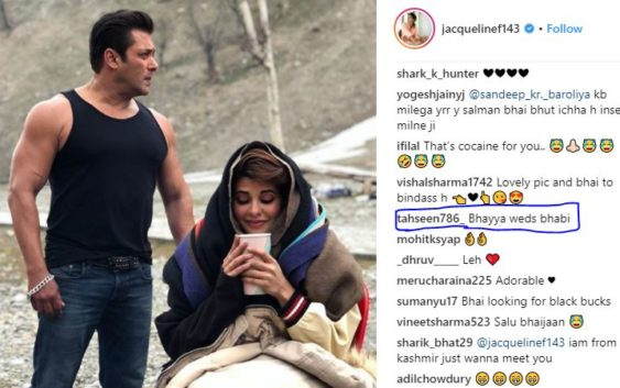 Jacqueline fernandez share a sizzling hot pic with salman