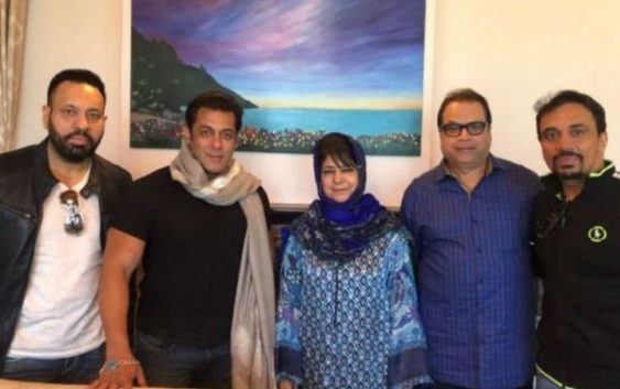 Salman khan meets J&k Cm mehbooba mufti in kashmir