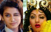 """आंख मार सेलिब्रेटी बनी """"प्रिया प्रकाश"""" की बॉलीवुड में एंट्री, श्री देवी बन बिखेर रहीं जलवे"""