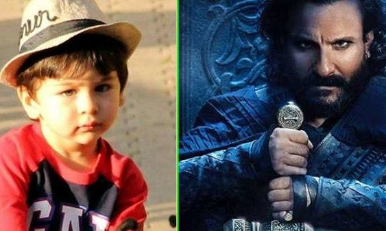 Taimur reacts on Saif look in tanhaji