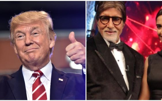 Amitabh or sonam kapoor attends Trump show in gujrat