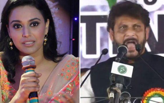 Swara bhasker takes on Waris pathan