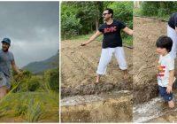 सलमान के बाद अब खेत में उतरे छोटे नवाब, अब्बा के साथ मिलकर इस फसल की ली ट्रेनिंग..