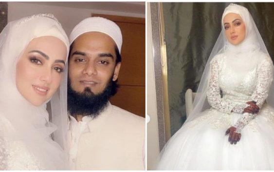 Sana khan Latest photo with Mufti anas