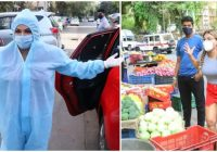 PPE किट पहनकर पोज देते नजर आईं राखी सावंत, 2 दिन पहले शॉर्ट्स पहनकर खरीदने निकलीं थीं सब्जी..