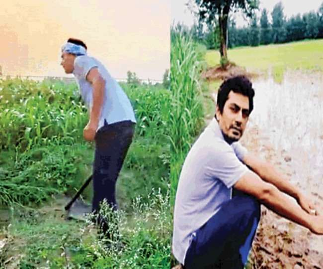 गांव में खेती करने पहुंचे नवाजुद्दीन