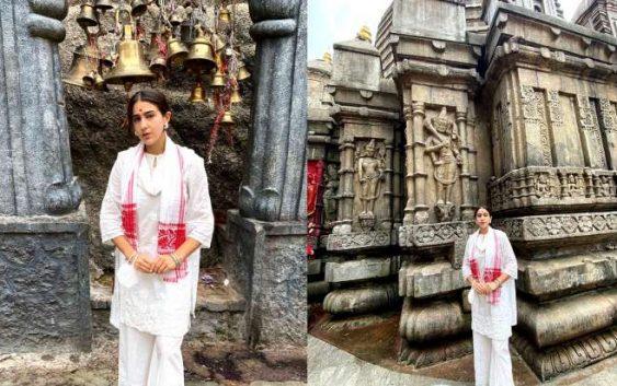 सारा अली खान ने किया मां कामाख्या देवी के दर्शन